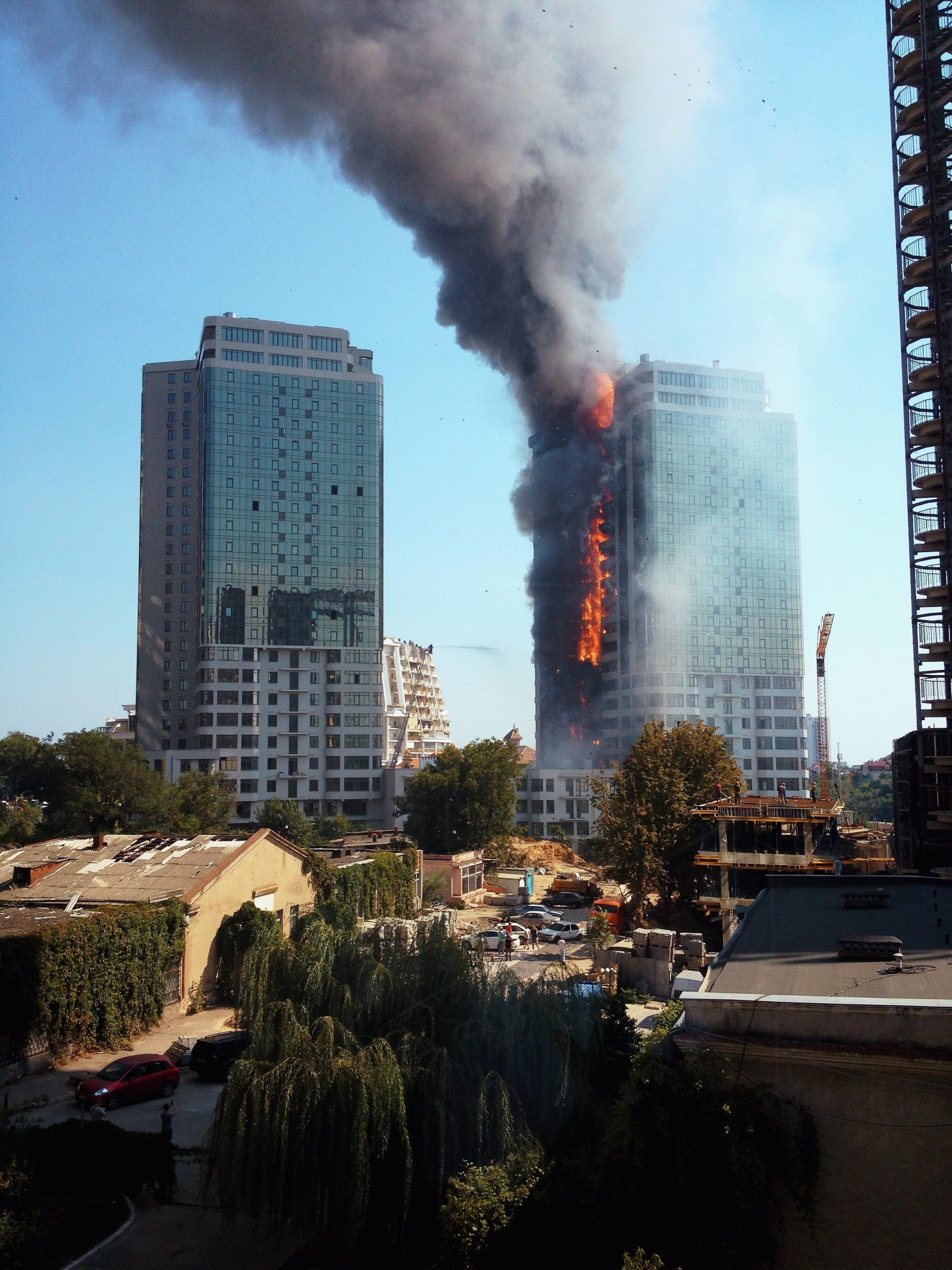 High rise bulding fire