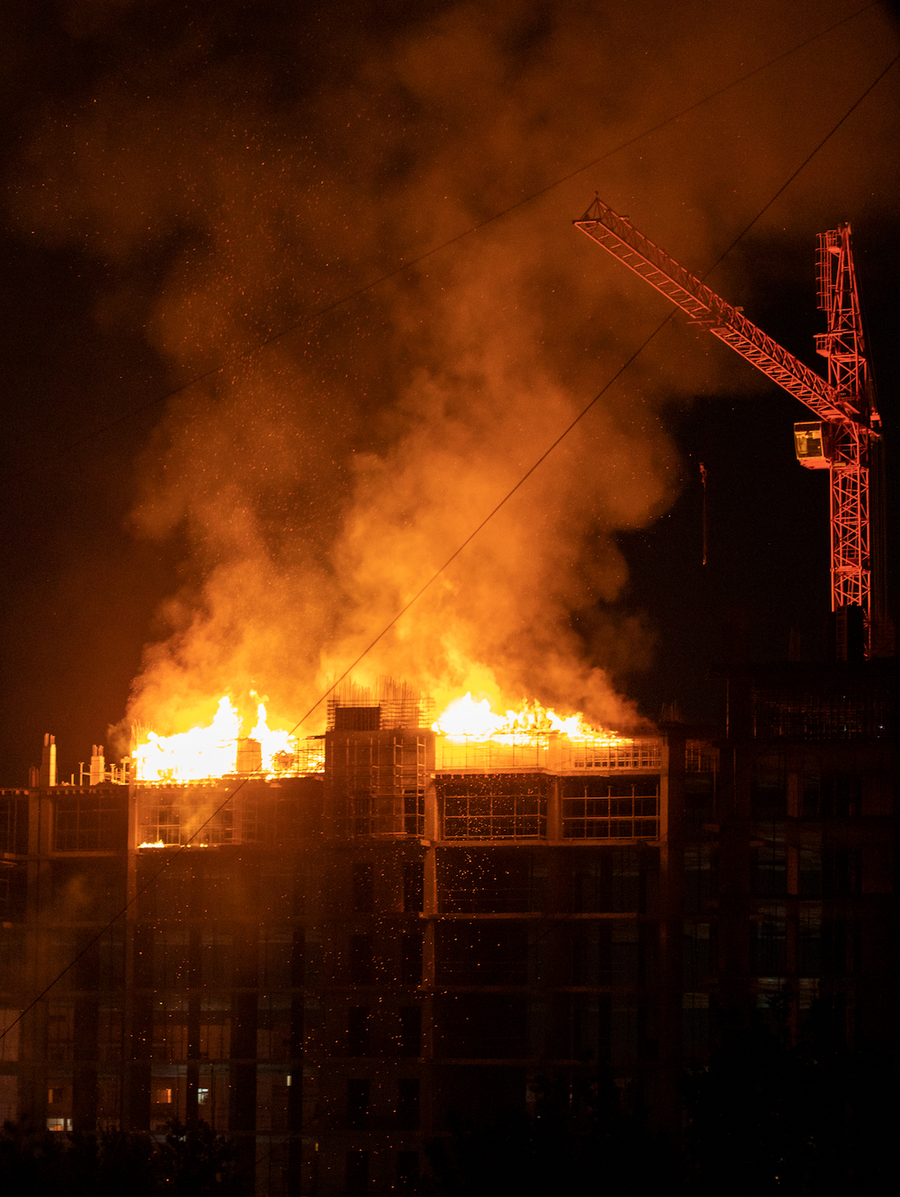 construction site fire